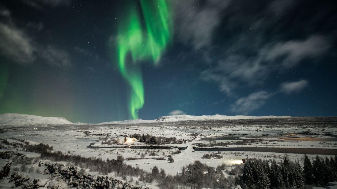 Northern Lights over Þingvellir National Park
