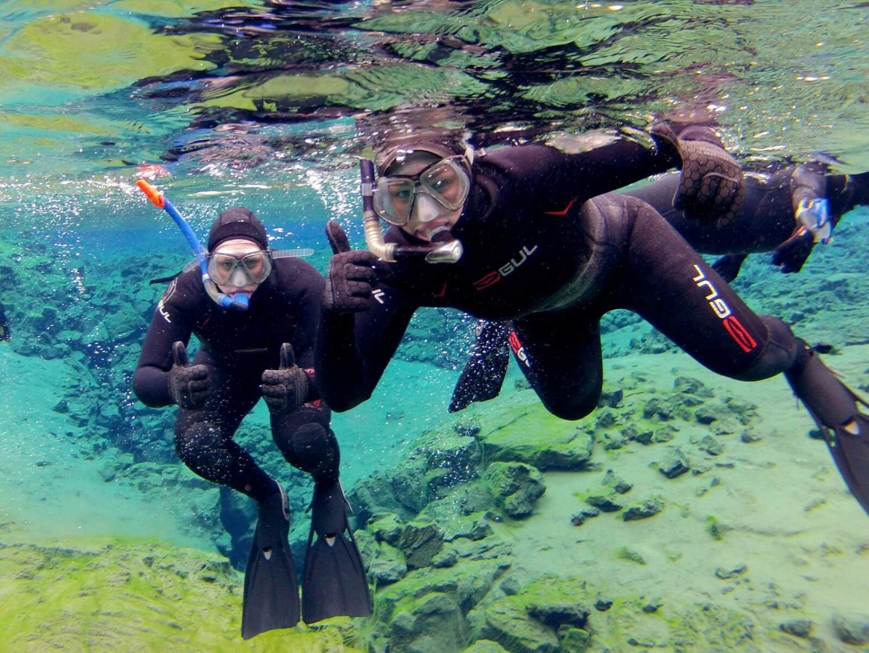 Wetsuit Snorkeling in Silfra Iceland